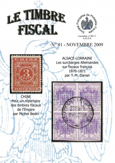 Bulletin Le Timbre Fiscal n°91 Image 1