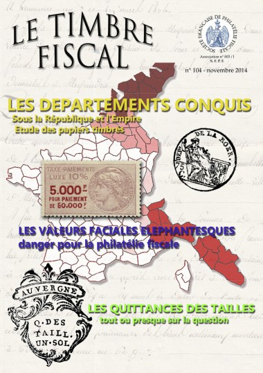 Bulletin Le Timbre Fiscal n°104 Image 1